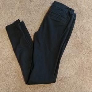 American eagle size 00 black khaki skinny pants